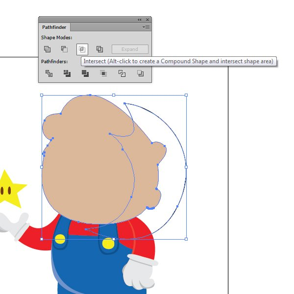 Use the Intersect command between the shadow outline and the merged object