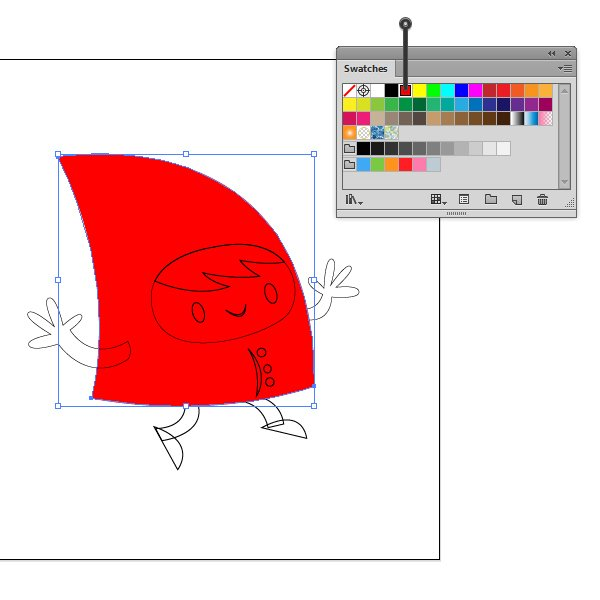 Color the body in red