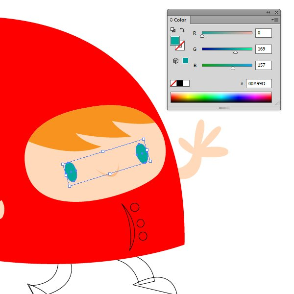 Color the eyes hair and mouth