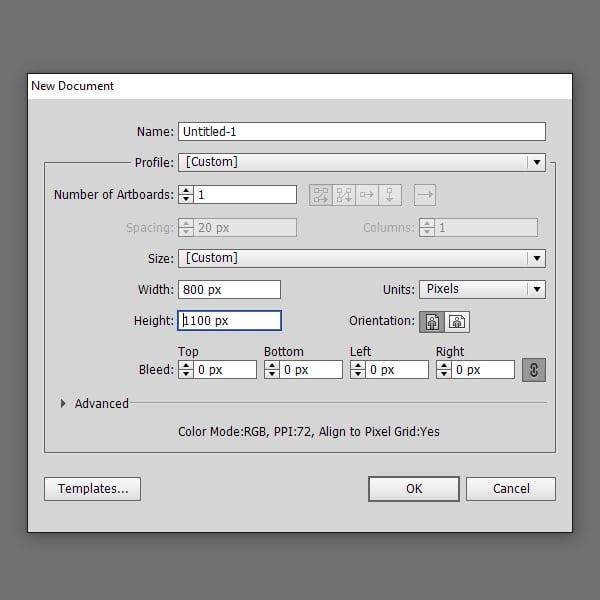 Create a new print document