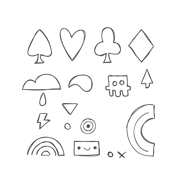 Sketch some simple shapes