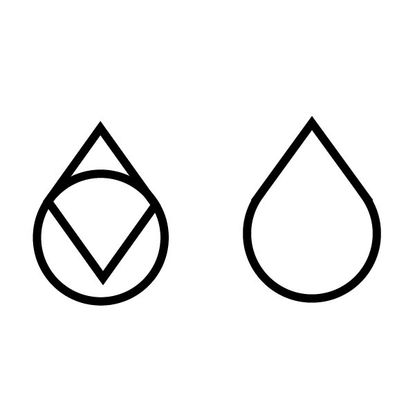 Merge these two shapes into one raindrop