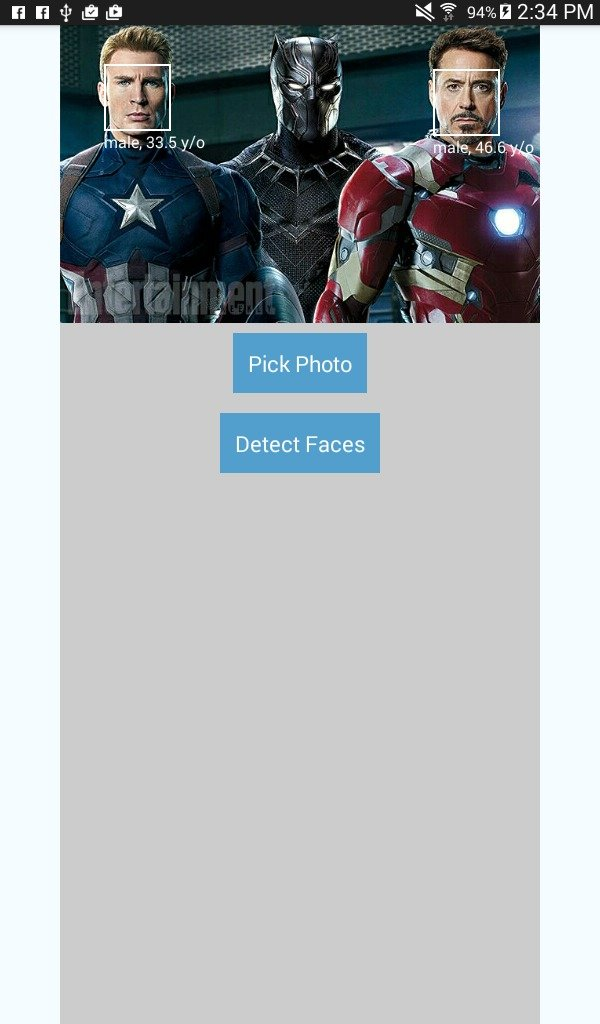 Face Detection App Screenshot