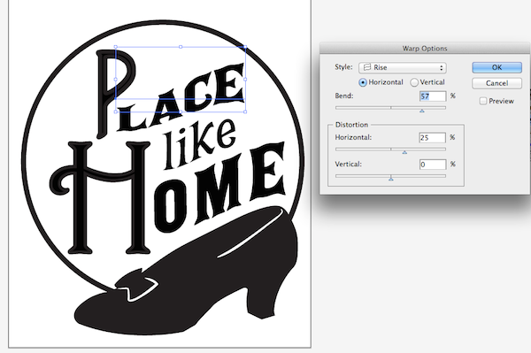 warping and distorting place text