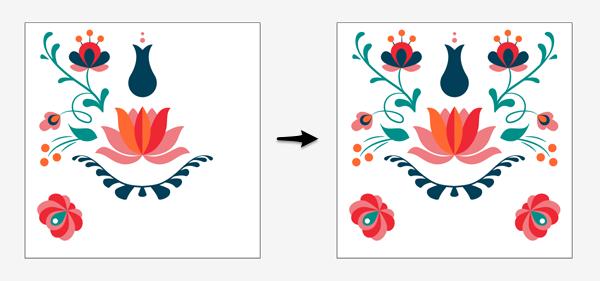 arranging pattern elements