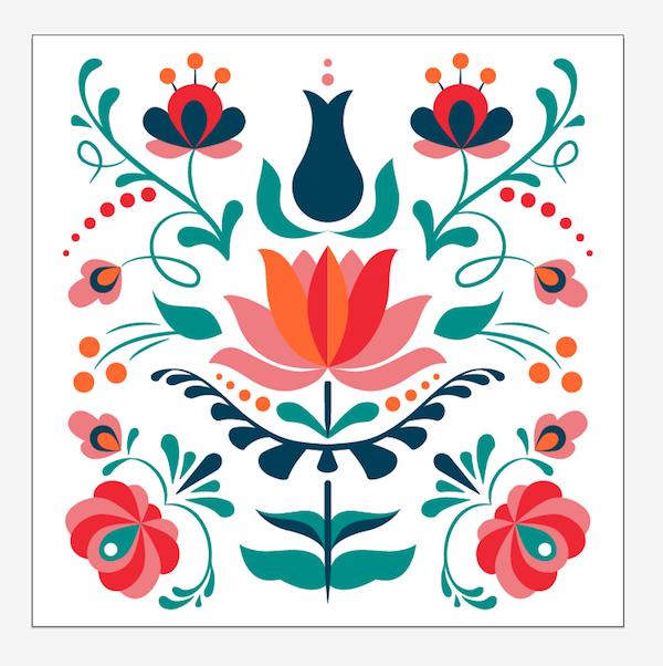 arranging pattern artboard
