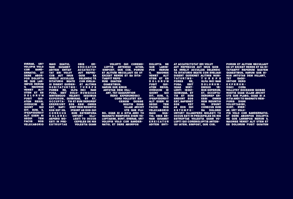 Final typography effect