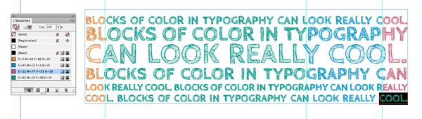 applying color in blocks
