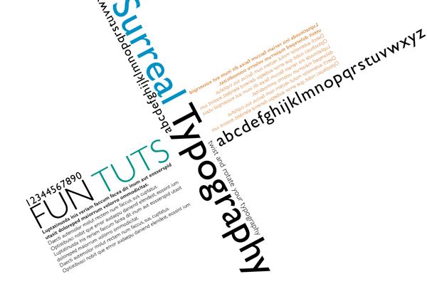 final surreal twist typography