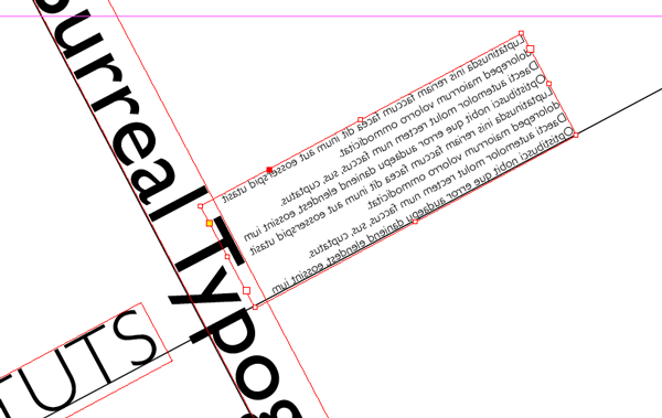 Flipped text frame