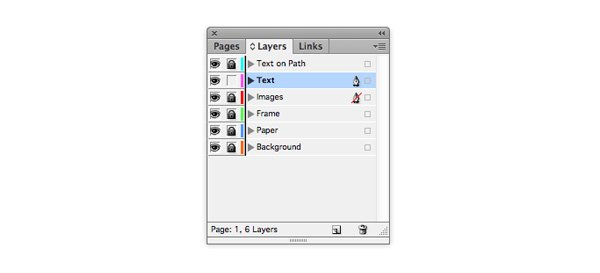 layers text