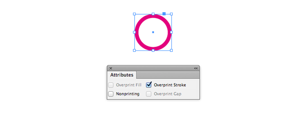 overprint stroke