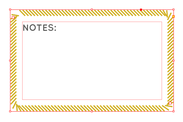 notes text frame
