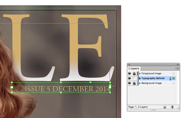 typography on header