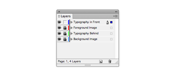 Typography in Front layer