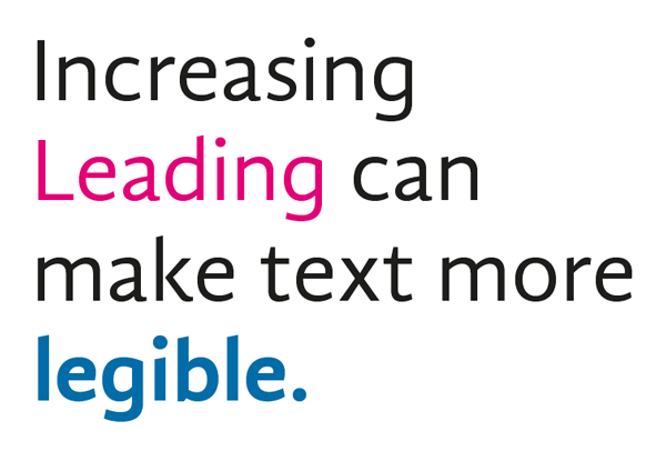 leading and legibility