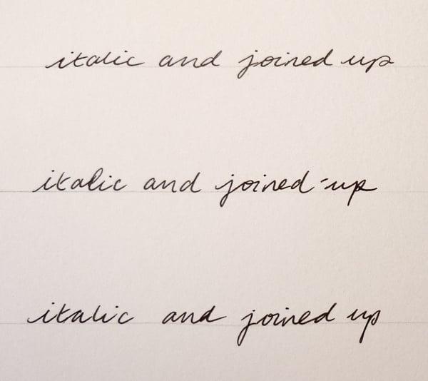 italic cursive writing