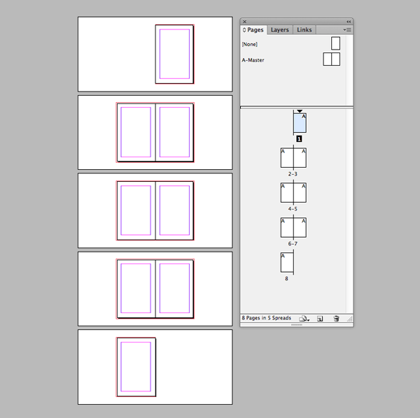 document with blank pages