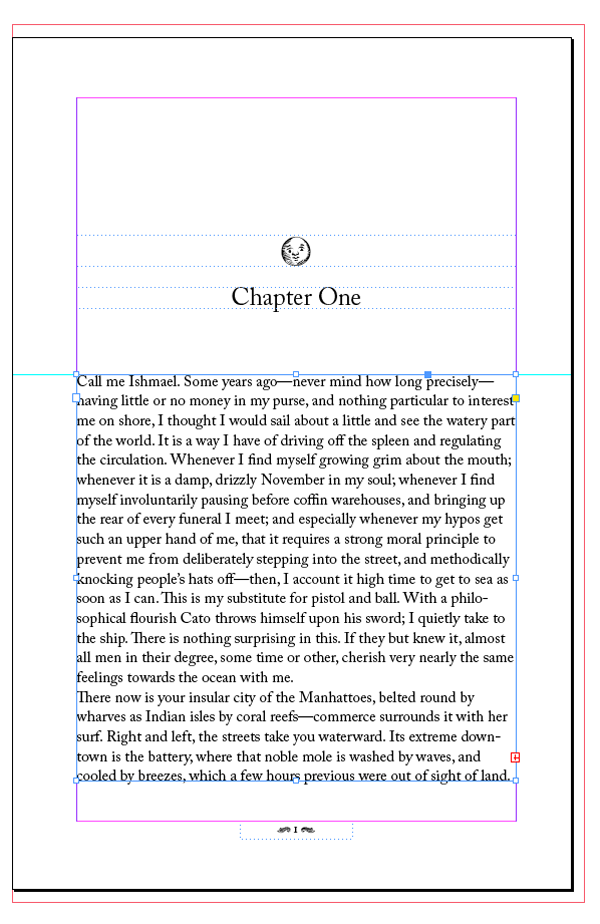 first page of book