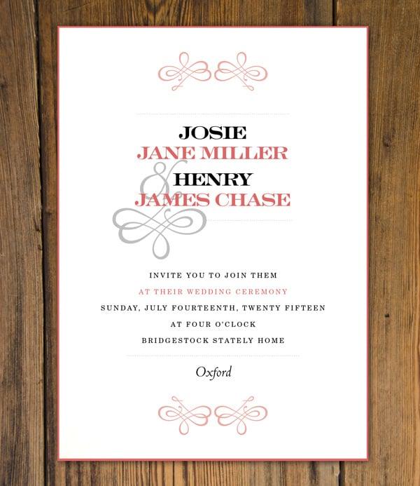 printing process for wedding invitation