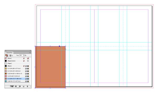 light brown rectangle