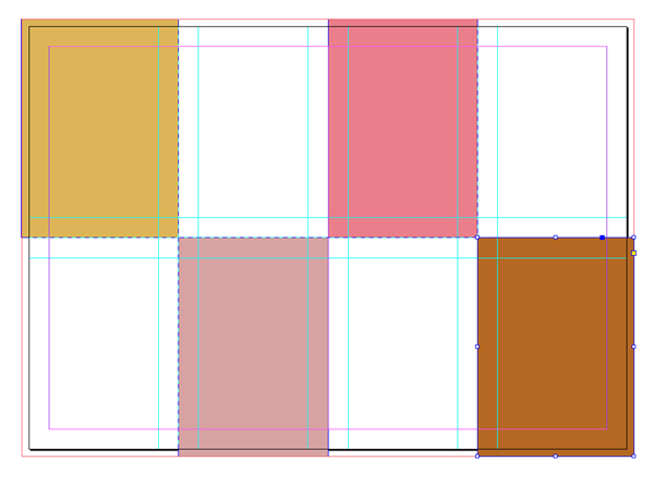 pasted rectangles
