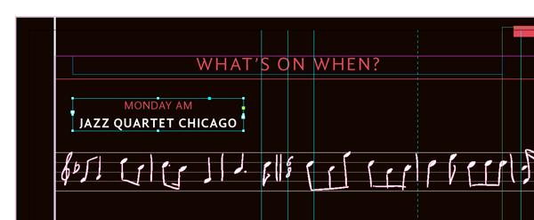 first schedule text frame