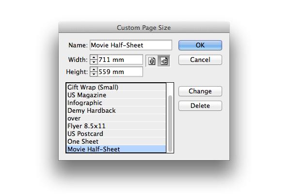 custom page size