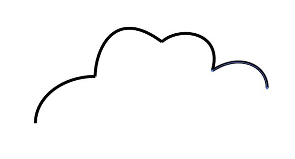 top of cloud shape