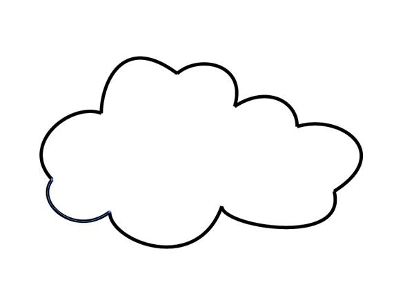 complete cloud shape