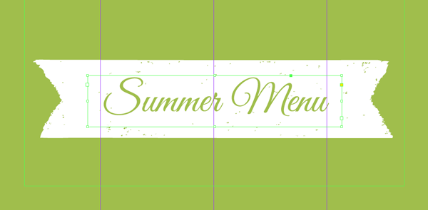 text over banner