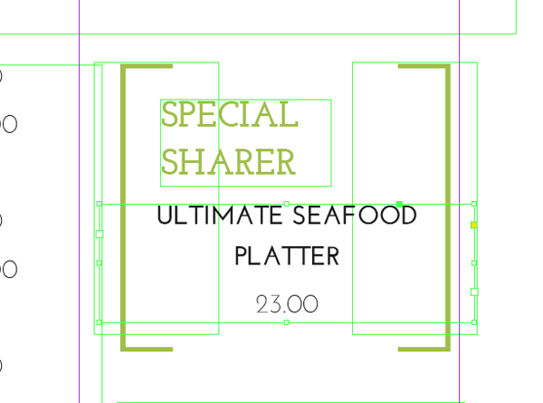 special dish text