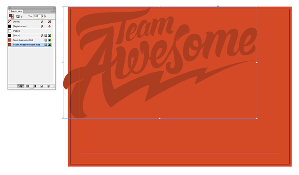 team awesome in dark red
