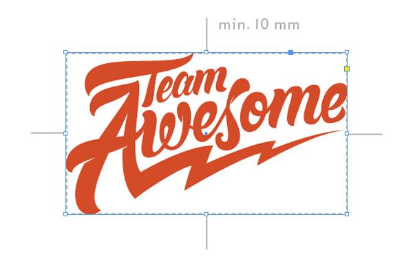margin around logo