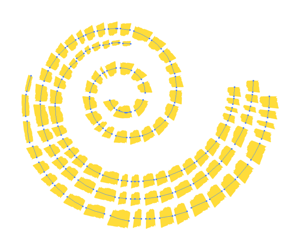 select and copy spiral