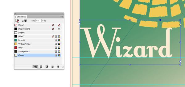 wizard text frame