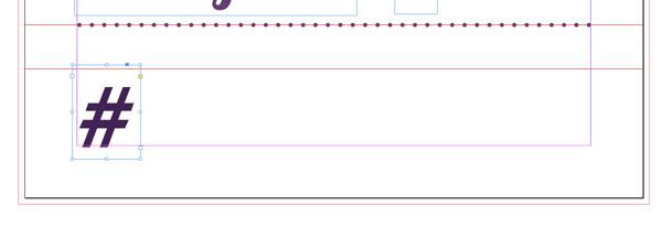 hashtag text frame