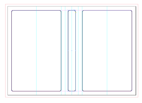 layout preview with spine border
