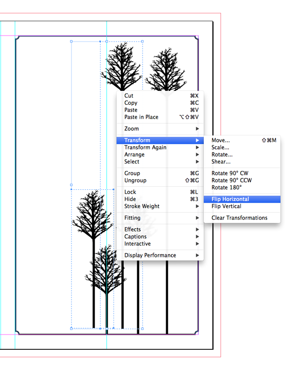 pasted trees to flip