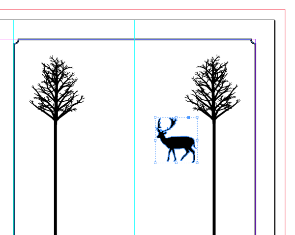 pasted deer reduced in size