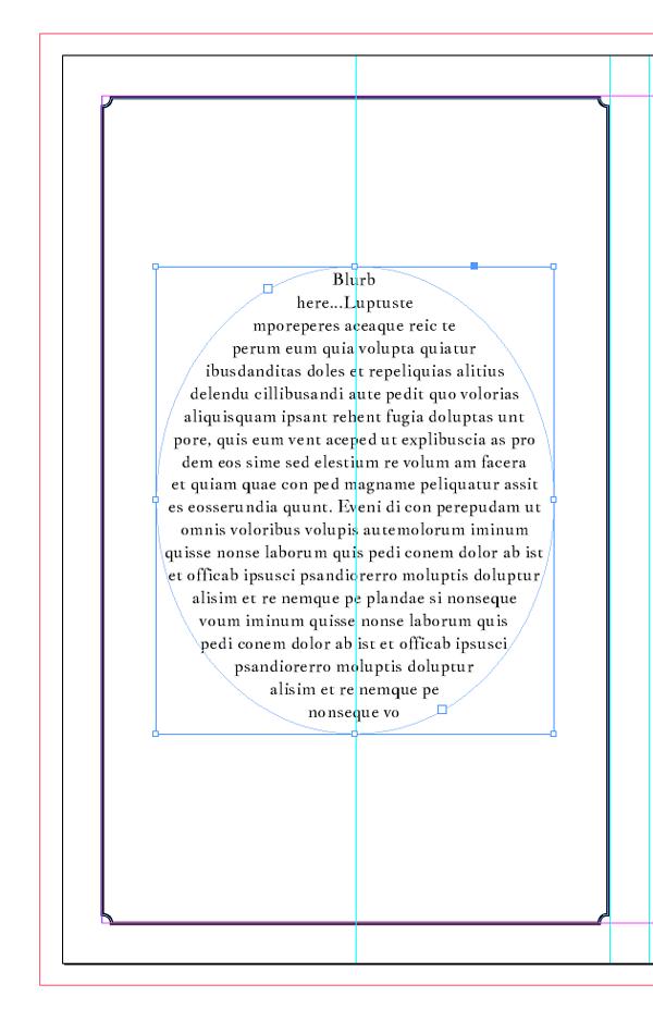 blurb in text frame