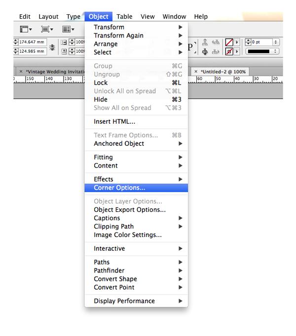 object corner options