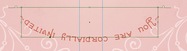 flipped text path