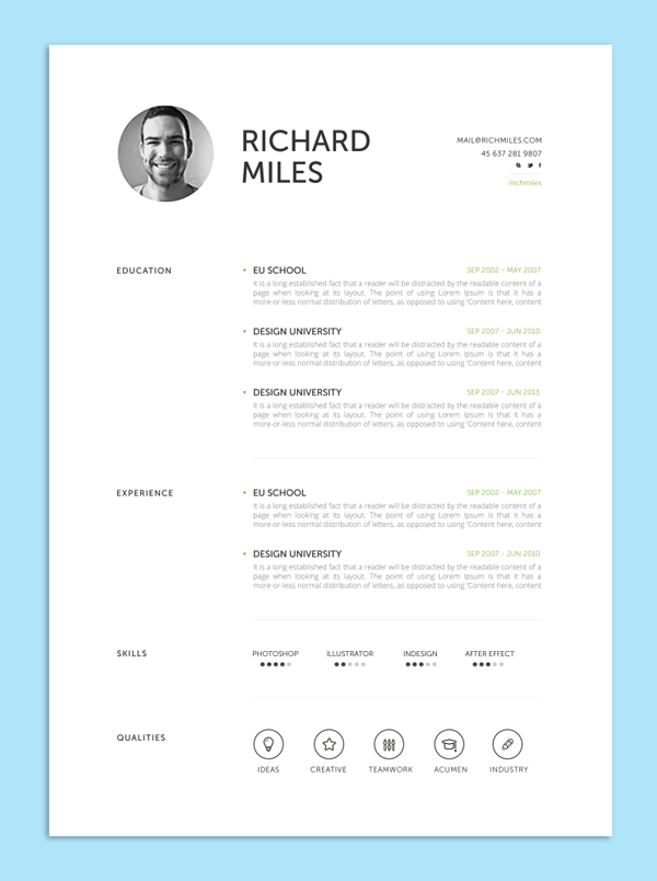 simple structured resume