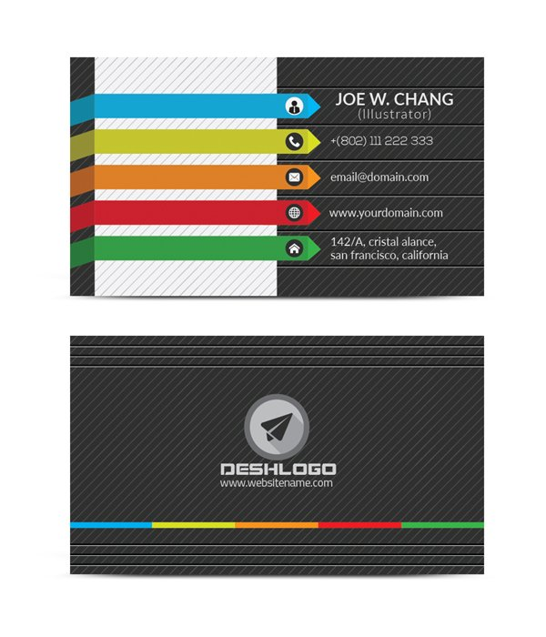 rainbow color card