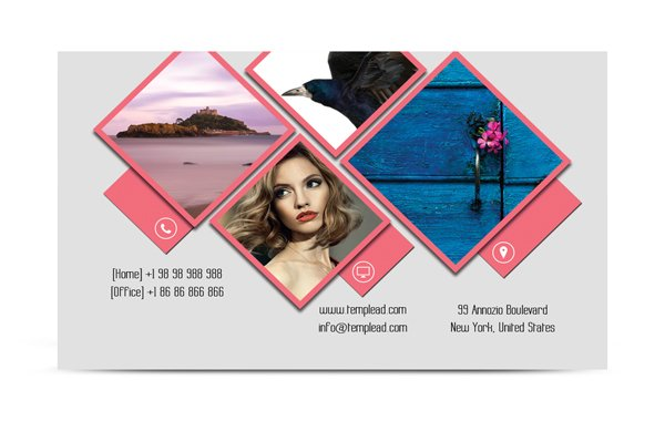 photo grid business card