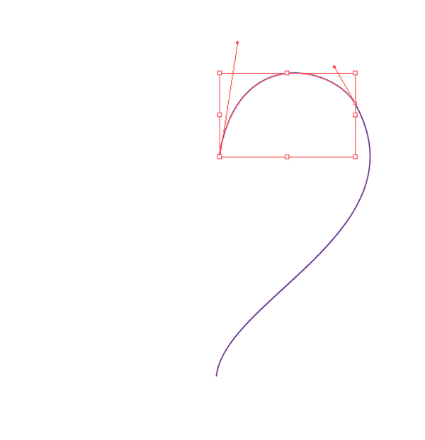curved line joined