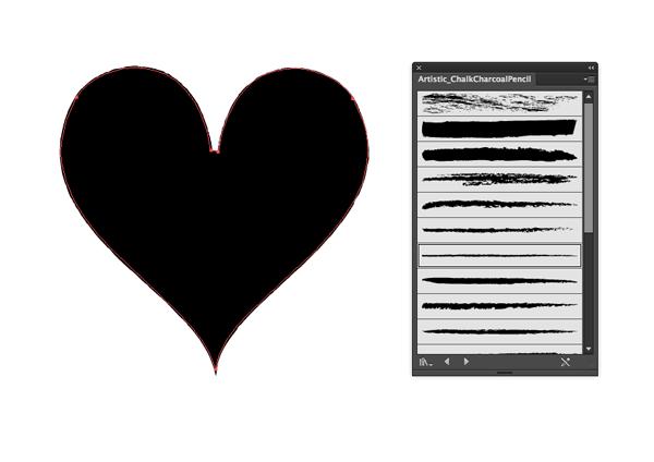 heart with stroke applied