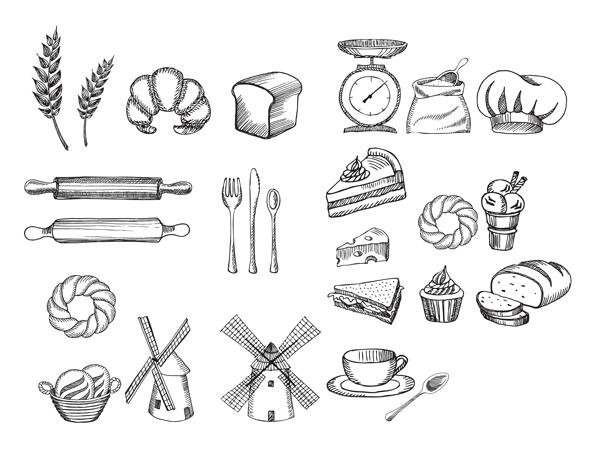 doodles for menu