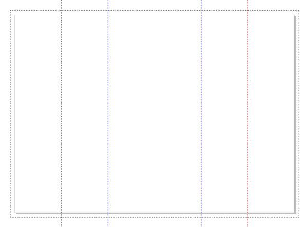 layout with fold guides